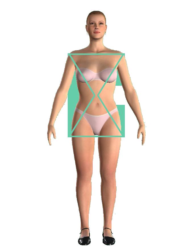 woman hourglass shape figură clepsidră