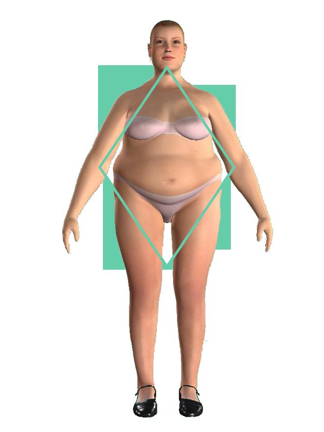 woman diamond shape figură diamant