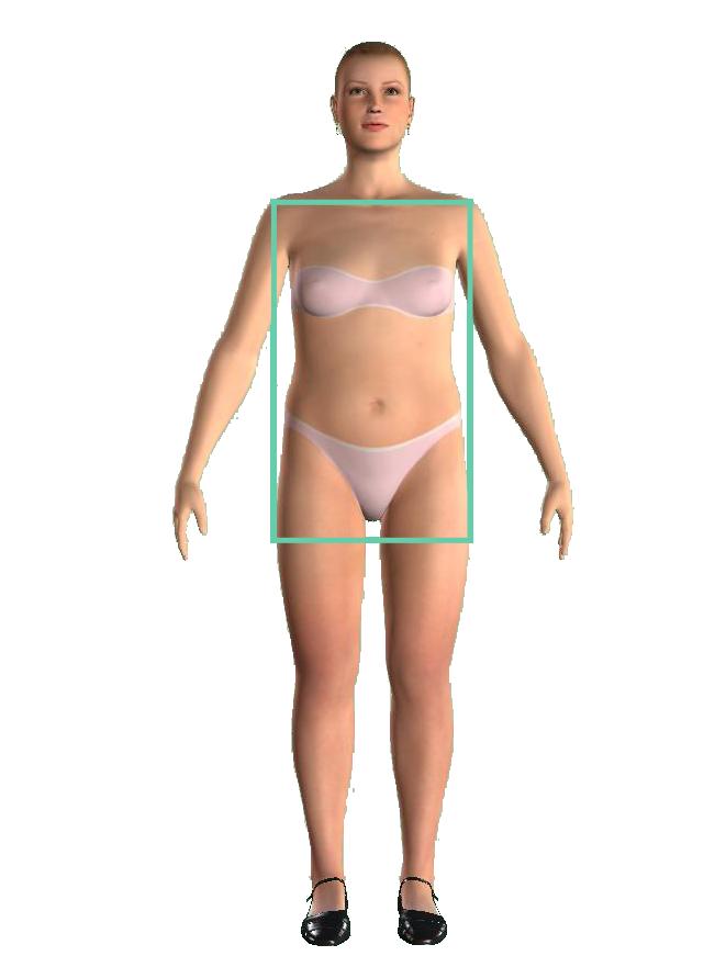 woman rectangular shape figură dreptunghi