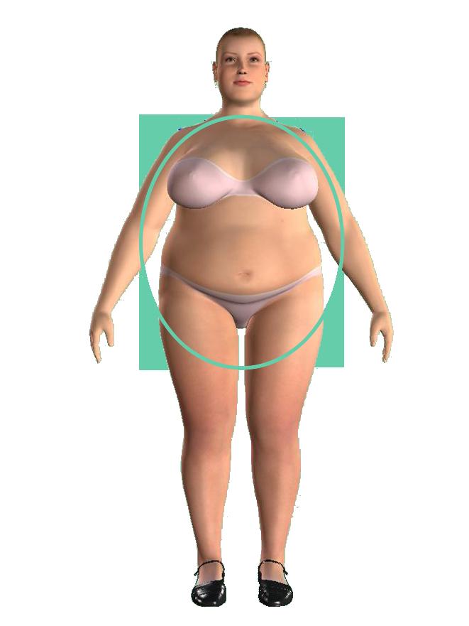 woman apple shape firgură măr