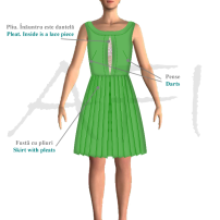 Rochie de vară din bumbac